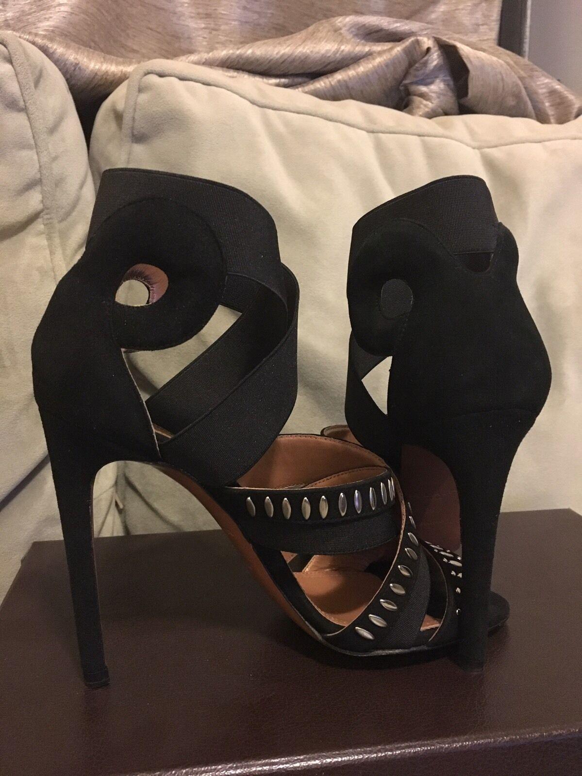 il miglior servizio post-vendita Alaia  nero Suede And And And Embellished Sandal Dimensione 36  presentando tutte le ultime tendenze della moda