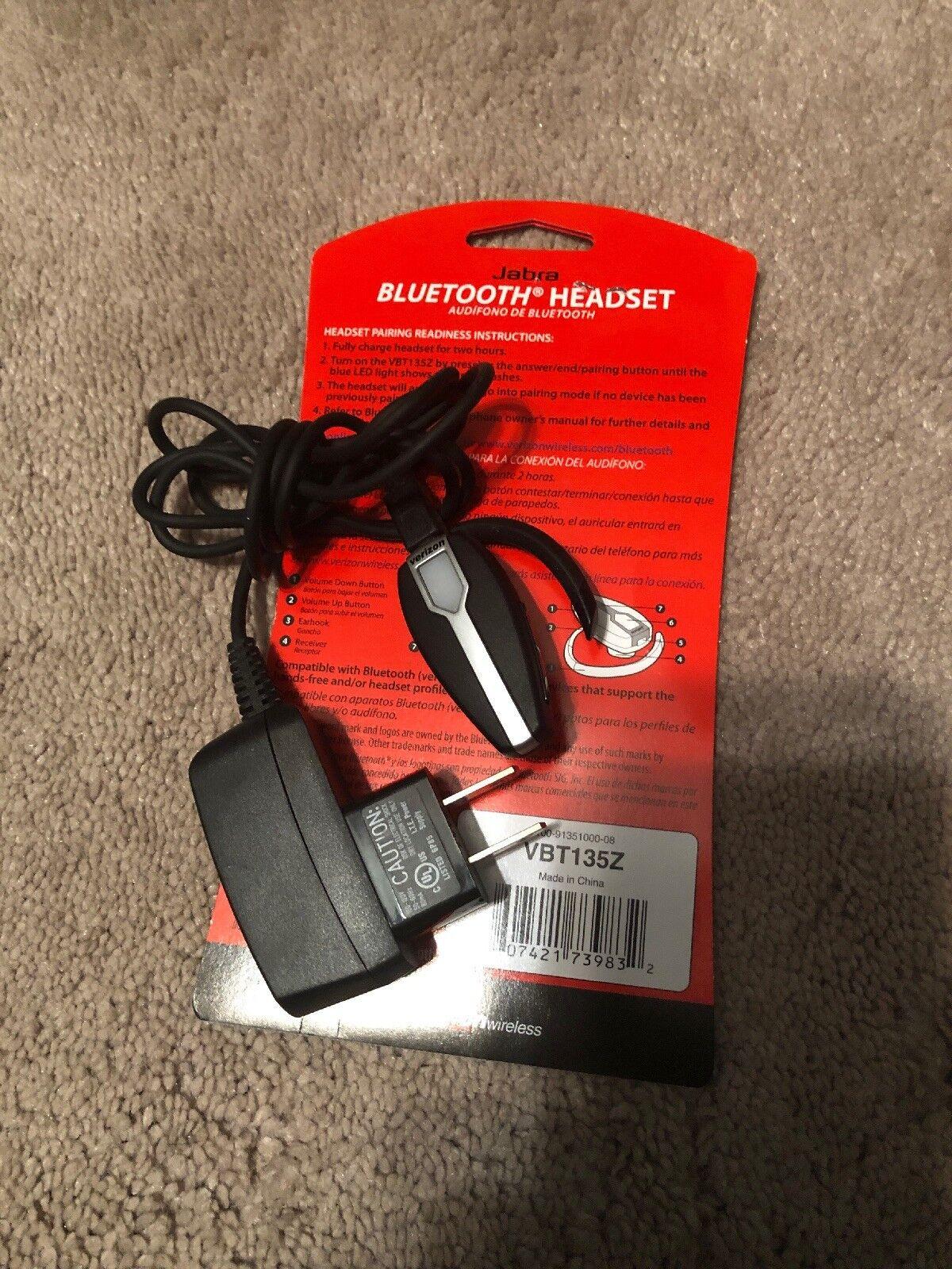 Jabra Bluetooth Headset Verizon Wireless Vbt135z Factory For Sale Online Ebay