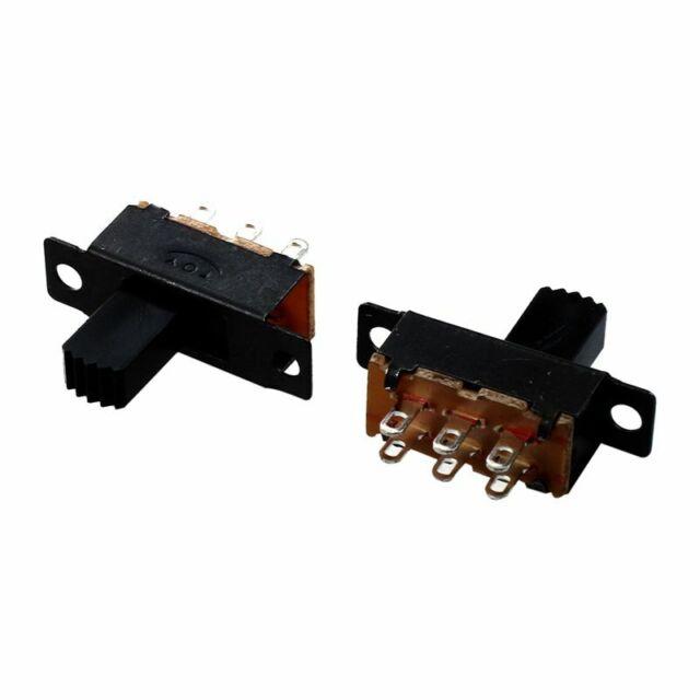 10 Stueck Hoch Drehknopf 6 Pin 3 Position DPDT Platte Schiebeschalter 0,5 9P1 1X