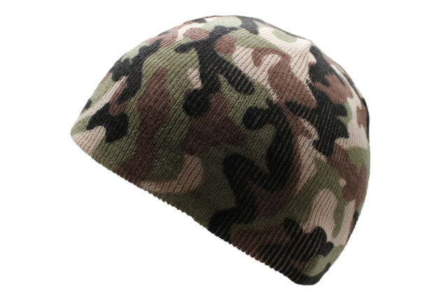 7f73b4f1bd50a Mil-Tec Winter Warm Beanie Watch Cap One Size Woodland Camo for sale ...