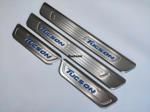 For Hyundai Tucson Accessories Door Sill Stainless Steel Scuff Plate Protectors