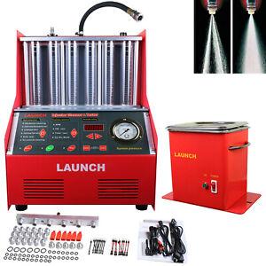Inyector-de-combustible-de-lanzamiento-CNC602-onda-ultrasonica-Limpiador-De-Carburo-uniformidad-de