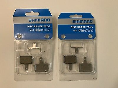 2 pairs Shimano Deore BR-M515 M05 M525 Cable Disc Pads /& Spring