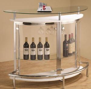 image is loading oslomodernwhitechromemetalbartablecounter wine rack bar table e3 wine