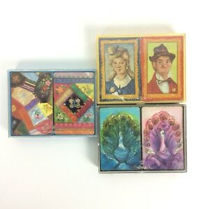 Vintage-Playing-Card-Decks-Incomplete-Damaged-Crafts-Swap-Collecting-Mixed-Lot