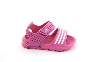 3a0819c419958 Caricamento dell immagine in corso Sandalo-da-bambina-rosa-Adidas-junior -velcro-EVA-