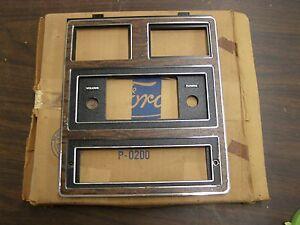 NOS-OEM-Ford-1973-1974-Galaxie-500-Radio-Dash-Bezel-Trim-Woodgrain-LTD