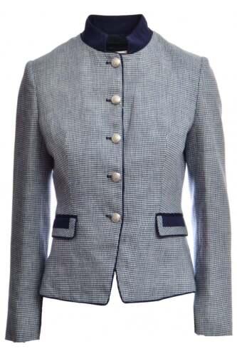 Bariloche Navy Dogtooth Check Jacket