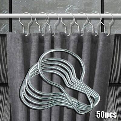 Rustproof Shower Curtain Hooks Bathroom