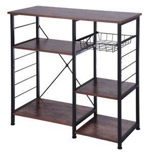 Vintag-3-Tier-Kitchen-Baker-039-S-Rack-Utility-Microwave-Oven-Stand-Storage-Cart