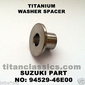 GSXR1100 TITANIUM fairing brace washer. Part: 94529-46E00. 2.4gm!