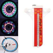 Programmable RGB 128 LED DIY Bike Cycling Bicycle Wheel Tire Spoke Light F3U0