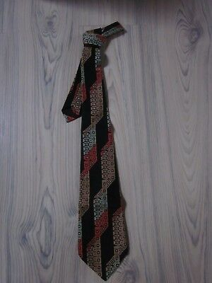 Qualifiziert ❀ Vintage ❀ Kultige Mark Seven Krawatte 109 ❀ Polyester ❀ Breit 70er Jahre ❀ Neu Mit Einem LangjäHrigen Ruf