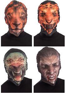 Tigre-Leon-Mascara-Animales-y-Naturaleza-Disfraz-Spandez-Capucha-Cabeza-Completa