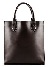 AUTH LOUIS VUITTON Brown Epi Leather Silver Tone Sac Plat Tote Handbag BC3834MHL