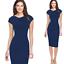 Elegant-Women-Office-Formal-Business-Work-Party-Sheath-Tunic-Pencil-Mini-Dresses thumbnail 13