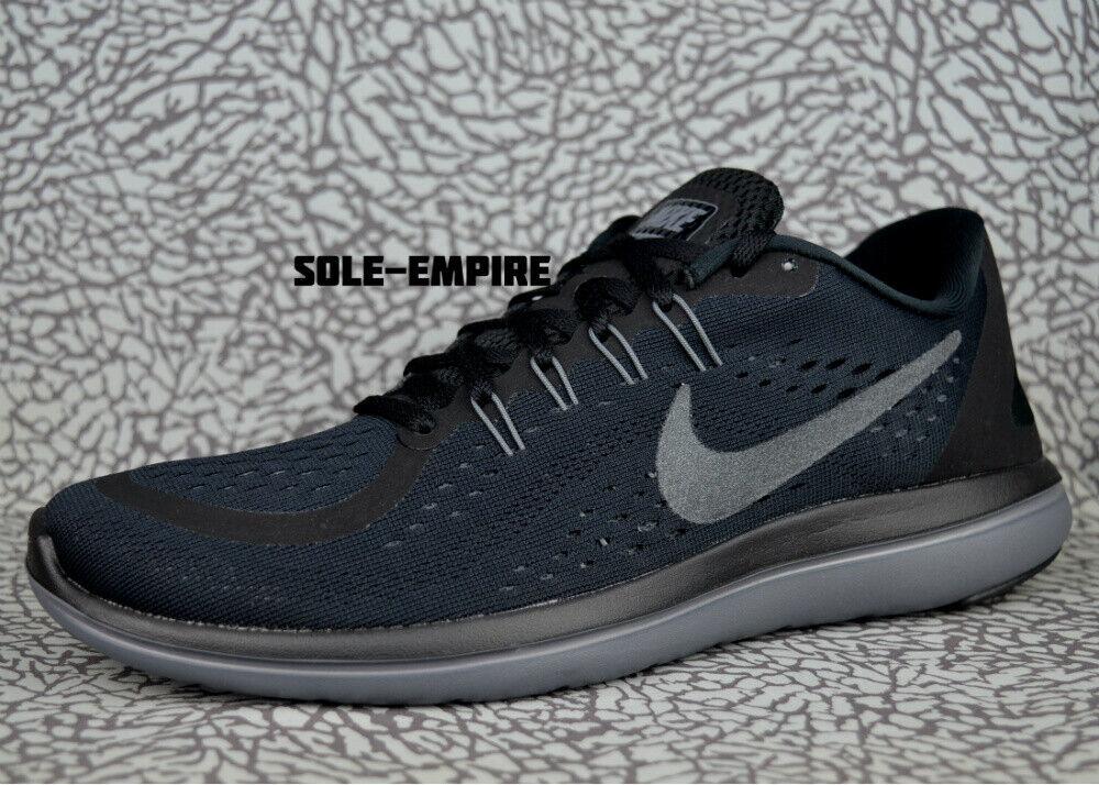 Nike Flex 2017 RN 898457-005 Black Anthracite Grey Men's Run Running shoes SALE