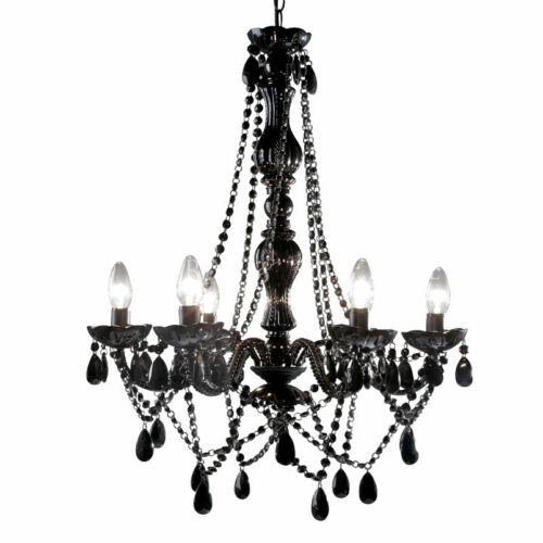 Leitmotiv gypsy six arms large black chandelier ebay 4 mozeypictures Images
