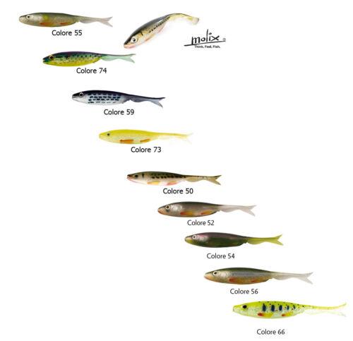 "Molix Virago Shad Tail 4/"" Esca pesca Trota Bass Drop Shot Rock fishing Jika PP"