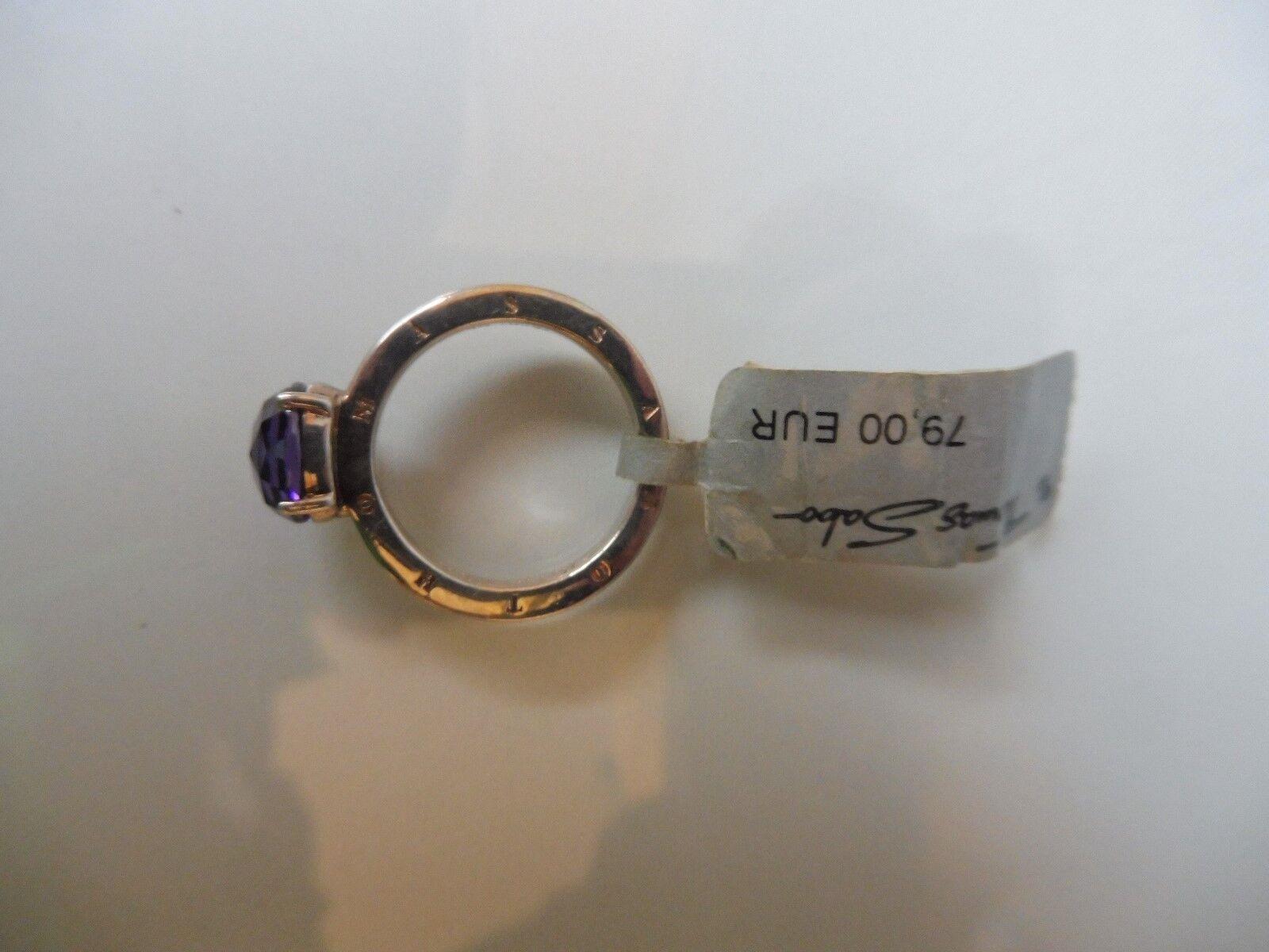 Schöner Ring__925 silver__mit geschliffenem , purple Stein__Thomas Sabo__