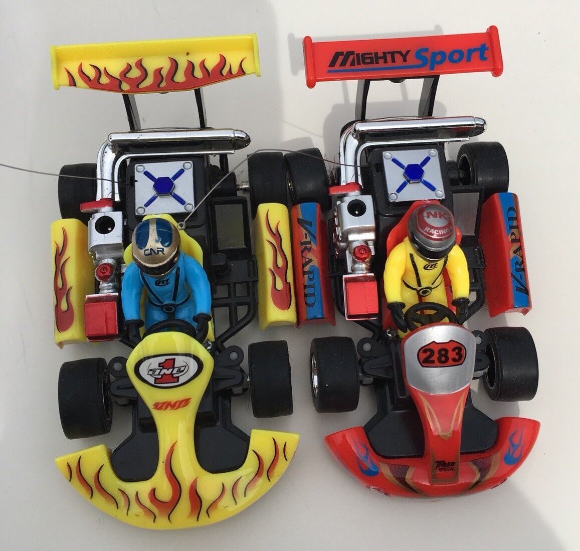 2- 1 23 Scale  Rechargeable Remote Controlled RC Racing Go-Karts  vendita economica