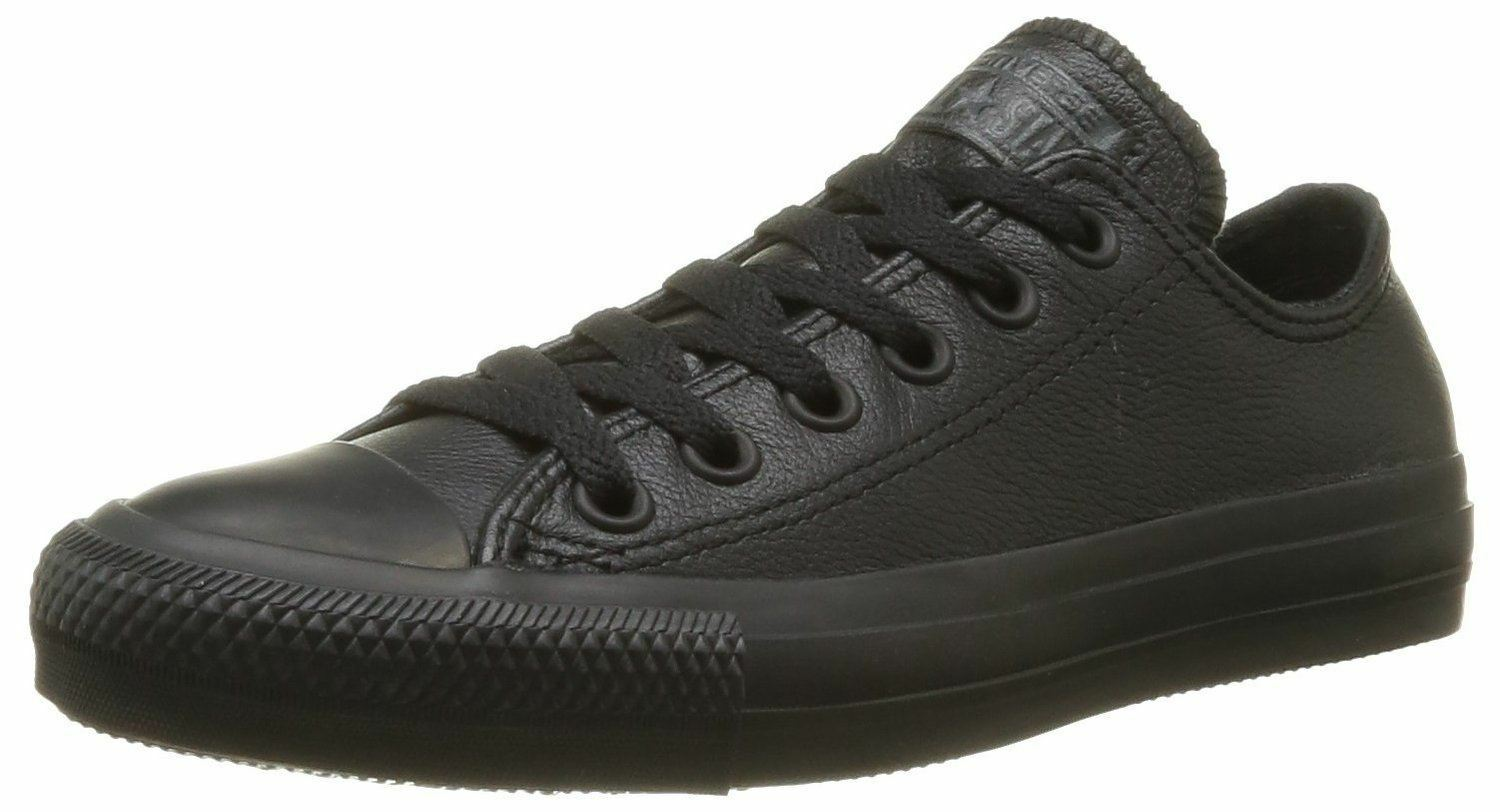 Converse Chuck Taylor Unisex All Star Negro Lo Unisex Taylor Leather Trainers 0d3796