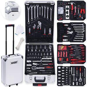 Masko® 849tlg Werkzeugkoffer Werkzeugkasten Werkzeugkiste Werkzeug Trolley Profi