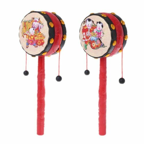 Spin Rattle Drum Monkey Drum Kid Chinese Toy Gift