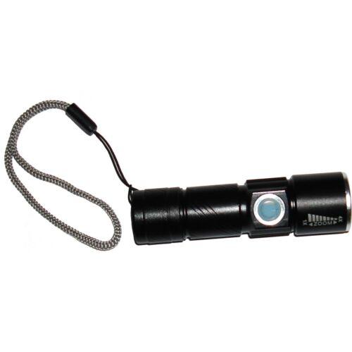 Black Kyasi Mini USB Rechargeable LED Flashlight