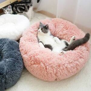 Pet-Dog-Cat-Calming-Bed-Warm-Soft-Plush-Round-Cute-Nest-Comfortable-Sleeping