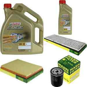 Inspektionskit-filtro-castrol-6l-aceite-5w30-para-Vauxhall-Astra-Mk-III-F-Estate