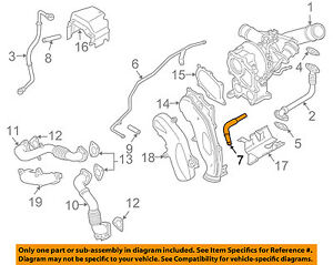 GM OEM Turbocharger Turbo-Return Hose 97383472