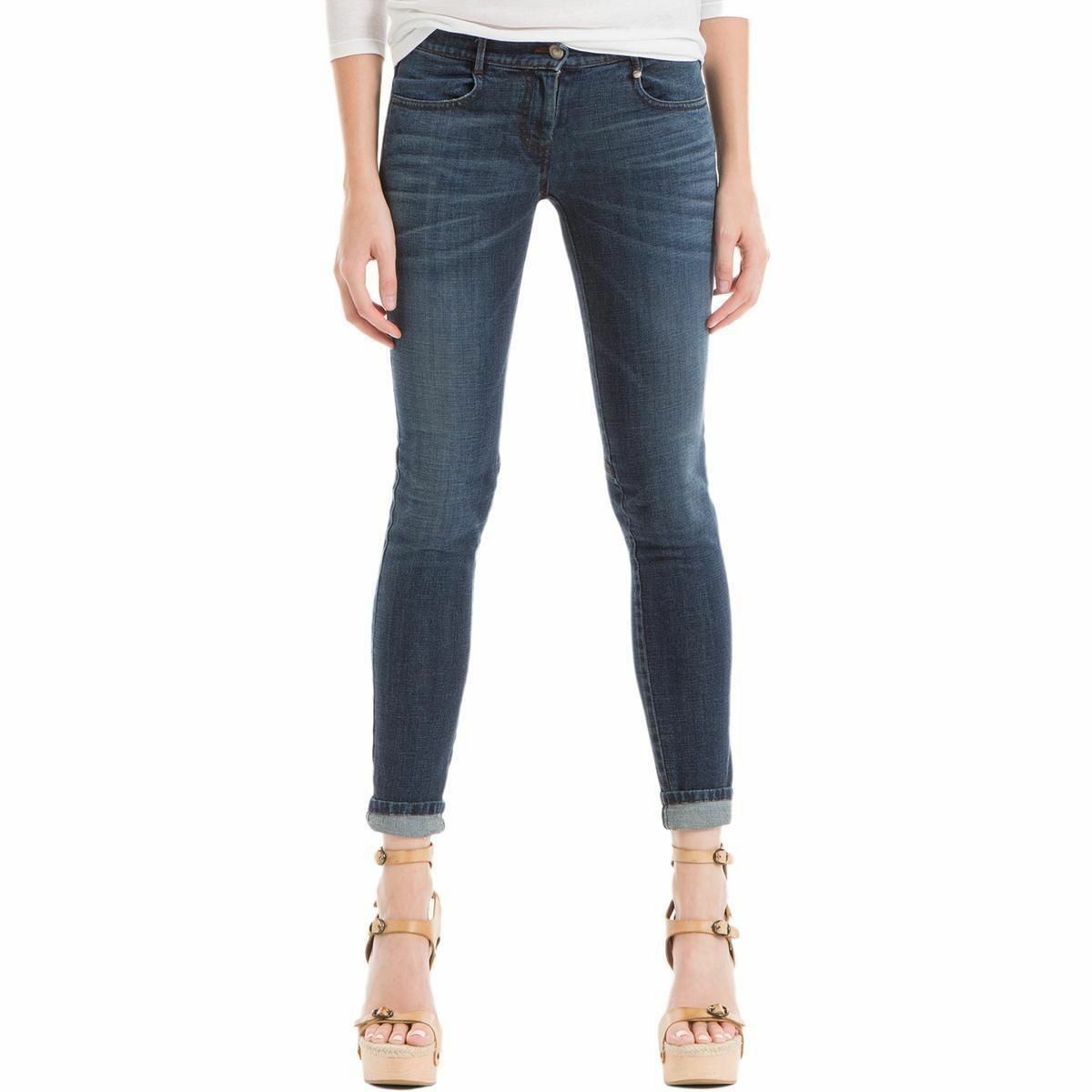 Max Studio London Womens Indigo Wash Skinny Jeans - Indigo Size 27 NWT