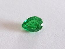 UKM  Tsavorit  grüner Granat  Tropfen  0,73 CT  6,4 x 4,6 mm