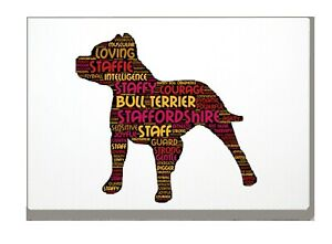Staffie-Dog-Art-Print-Word-Art-A4-A3-Mothers-Day-Gift-Personalised-Option