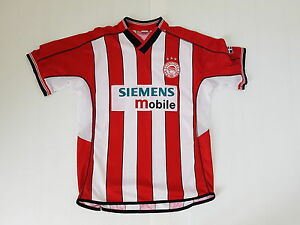 release date: af831 5a622 Details about Soccer Jersey Worn Shirt Old Vintage Maglia Olympiakos Siemens