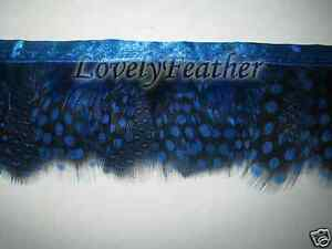Hackle feather fringe royal blue color 10 yards trim for Crafts//Costume//Sewing