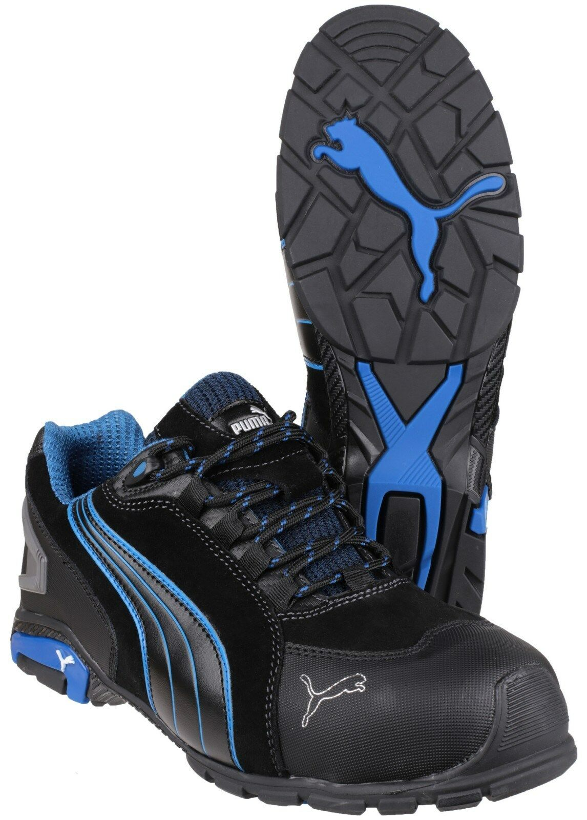 Puma Rio Black bluee Low Safety Mens Industrial Work Boots Trainers shoes UK6-13