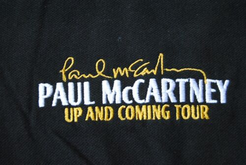 PAUL MCCARTNEY EMBROIDERED UP /& COMING TOUR BREAST LOGO POLO SHIRT NEW OFFICIAL