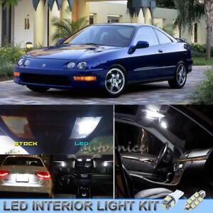 8pcs Bright White Interior Led Lights Package Kit For 1996 2001