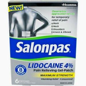 Salonpas-Lidocaine-4-Pain-Relieving-Gel-Patch-6-Patches-per-Box