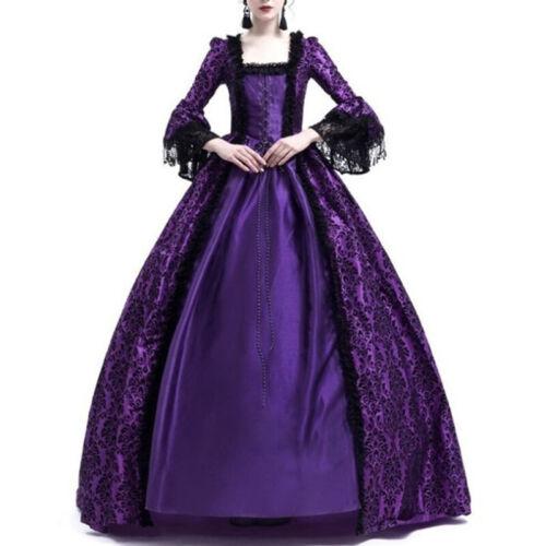 18th Century Prom Vintage Style Medieval Gothic Victorian Renaissance LACE Dress