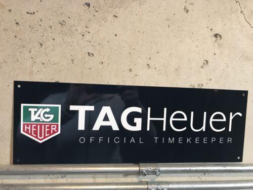 "Black 18/"" long Tag heuer  official timekeeper F1 Racing Garage Sign"