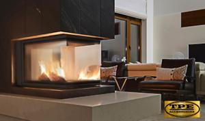 Nbu 11 Three Sided Wood Burning Fireplace Insert Cassette Hardwood