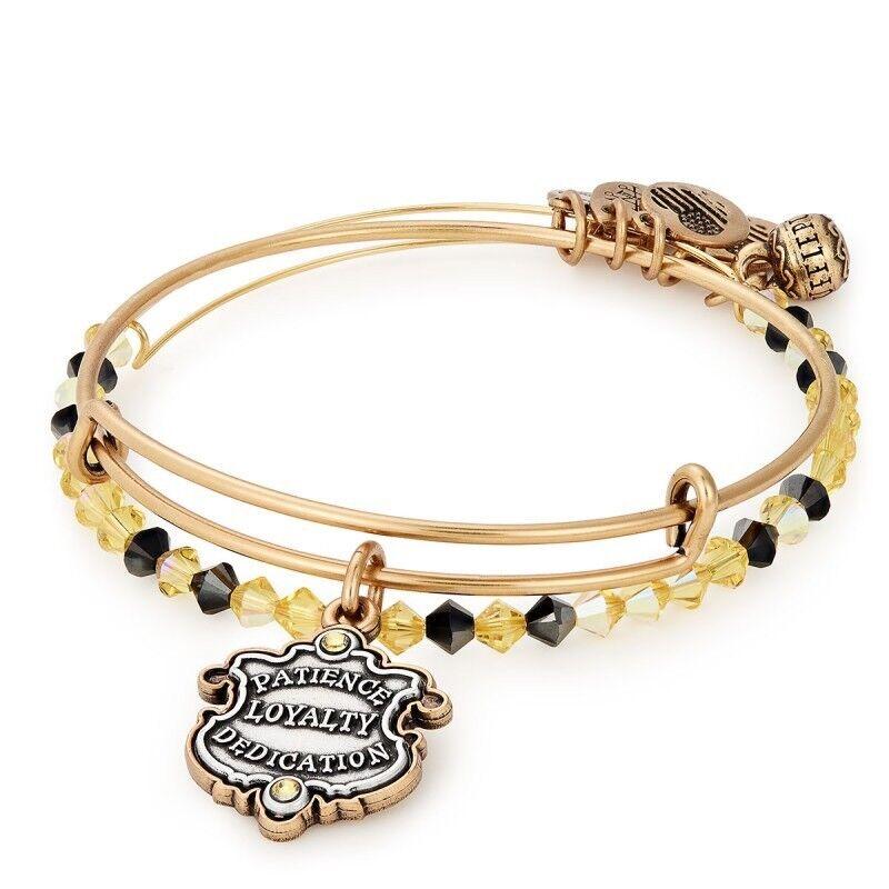 Alex and Ani Harry Potter Hufflepuff House Bracelet set of (2)