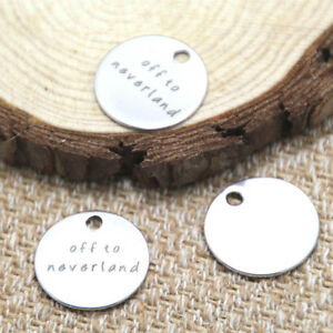 10pcs-off-to-neverland-charm-silver-tone-message-charm-pendant-20mm