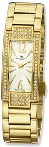 Ladies-Charles-Hubert-IP-plated-Crystal-White-Dial-21x46mm-Watch