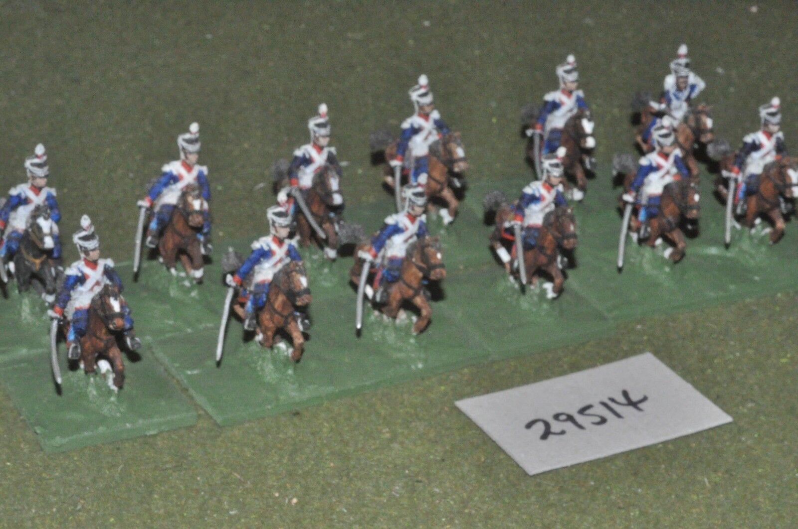 25mm napoleonic   british - light dragoons 12 figures - cav (29514)