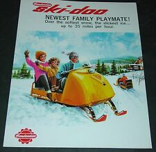 RARE VINTAGE 1965 SKI-DOO SNOWMOBILE SALES BROCHURE 4 PAGES VERY NICE  (444)