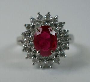 Ring-mit-Rubin-und-Brillanten-diamonds-in-14-K-585-Weissgold-Gr-55